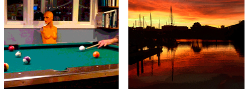 Pool for Dummies & Sunset at Oyster Point