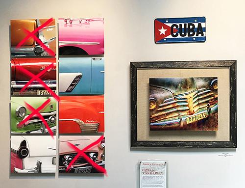 Cuban Cars on Metal