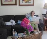 Trish on computer
